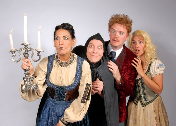 Frau Blucher leads the way - Young Frankenstein at Lakewood Theatre Company