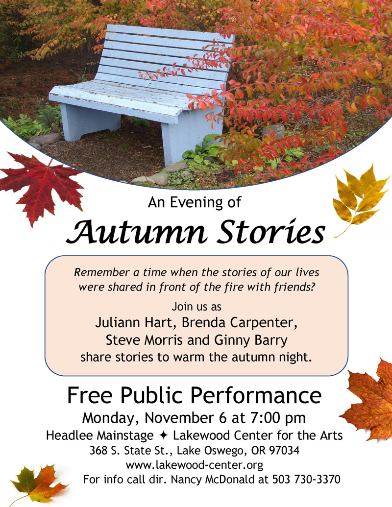 An Evening of Autumn Stories, LAkewood Theatre Company