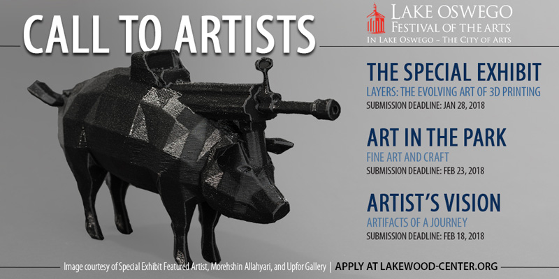 Call to artists for 2018 Lake Oswego Festival of the Arts - Lakewood Center for the Arts
