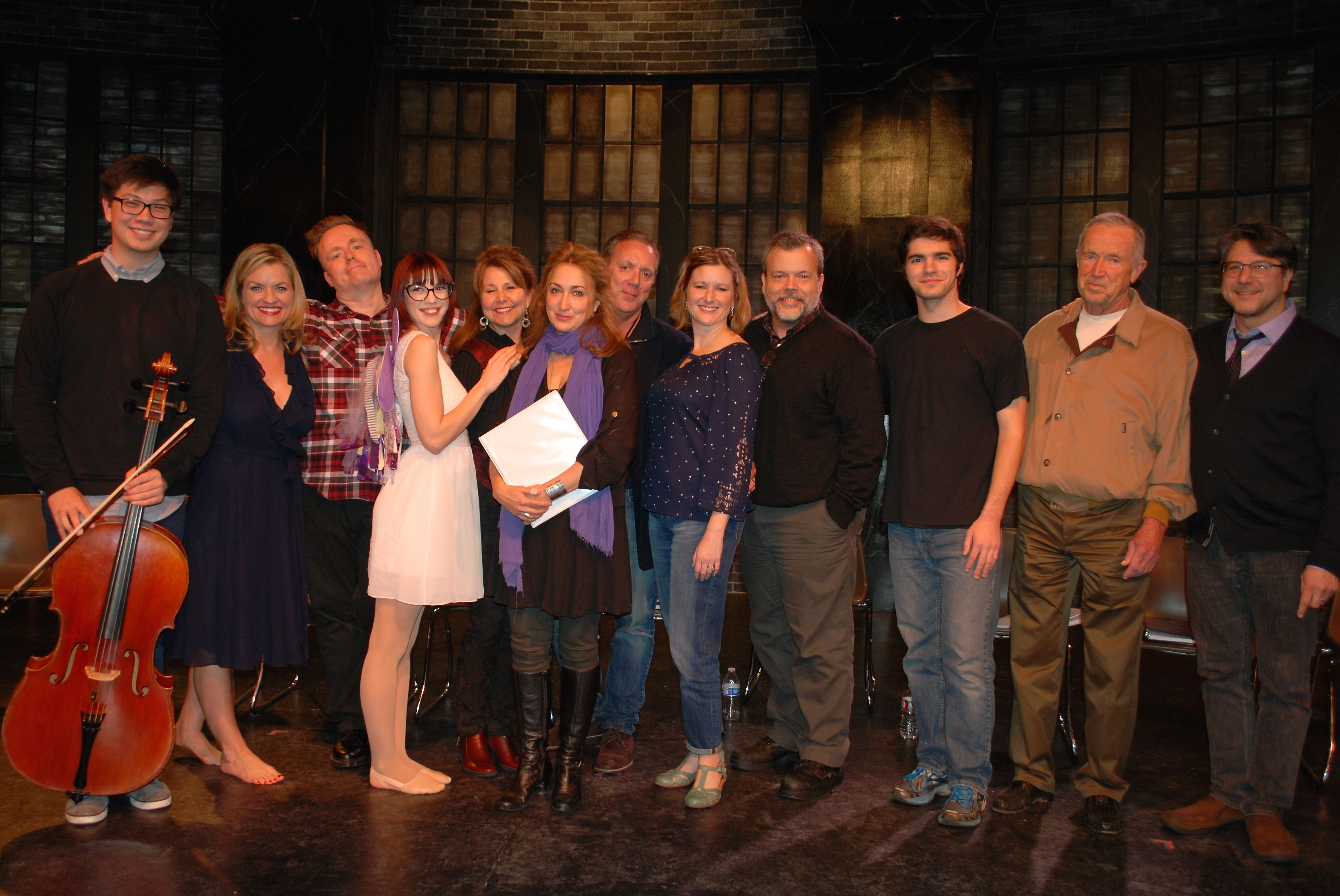 Cast of Burning Basil at Lakewood Theatre Company, Jan. 23, 2016