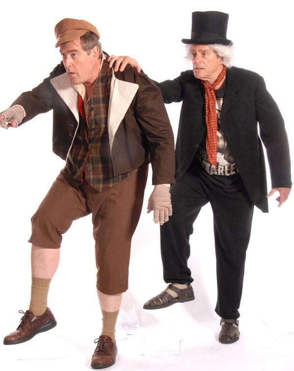 Alan King and Gary Powell in Inspecting Carol at Lakewood Theatre Company, Nov. 1 - December 8, 2013