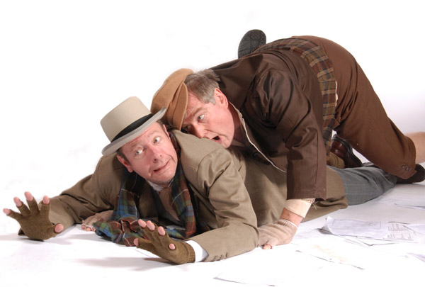 Grant Byington and Alan King in Lakewood Theatre Company's production of Inspecting Carol, Nov. 1 - December 8, 2013
