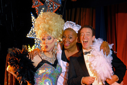 Joe Theissen, Kevin Clark and Leif Norby in La Cage aux Folles, Lakewood Theatre Company, May 3 - June 9, 2013