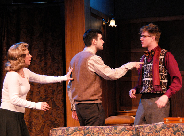 Lucy Paschall, Richie Bowen and Samuel Summer at Lakewood Theatre Company