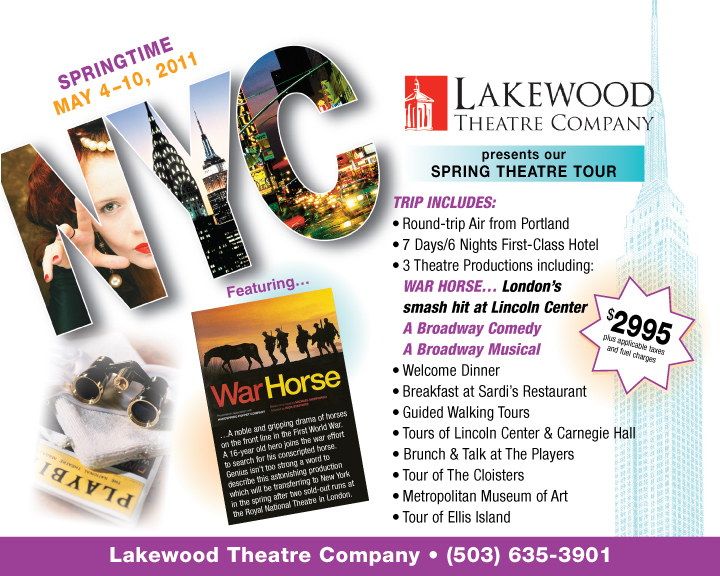 NY theatre tour with Lakewood