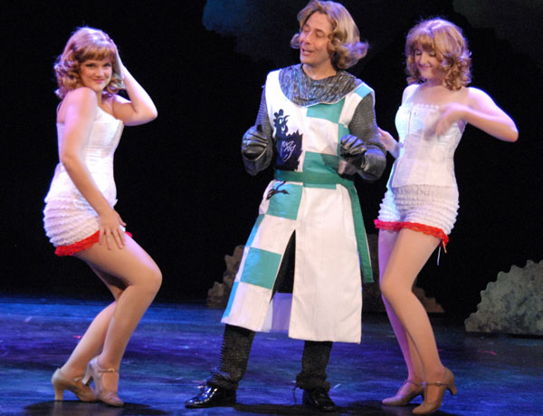 Spamalot: Norman Wilson, Kylie Clark Johnson and Bailey Olmstead, Sept 6 - Oct 13, 2013 at Lakewood Theatre Company