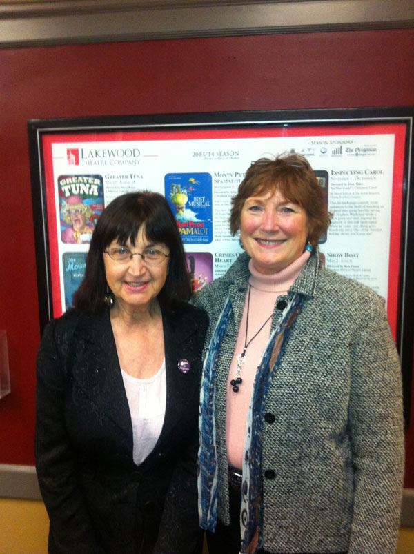 "Veronica-Esagui and Linda-Kuhlmann, playwrights of ""Aged to Perfection"""