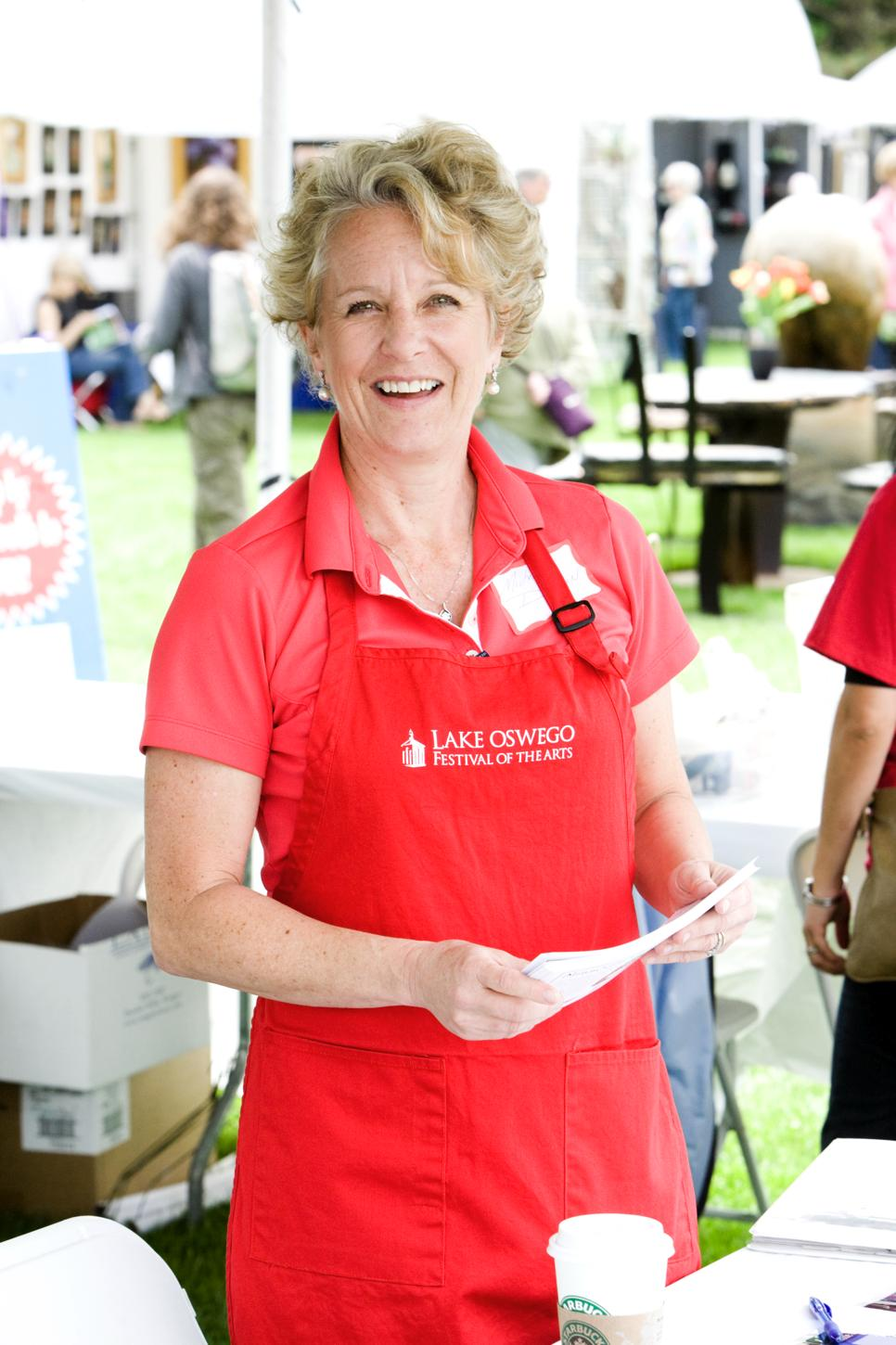Volunteers for Lake Oswego Festival of Arts